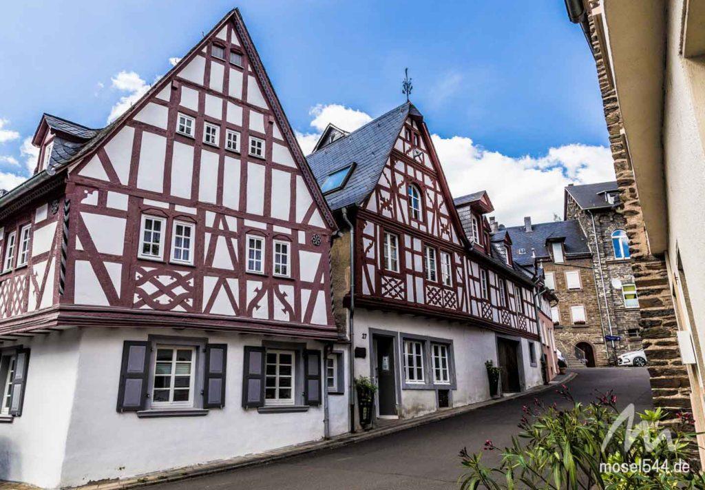 Es gibt neben Jugendstil auch viele Fachwerkhäuser in Traben-Trarbach.