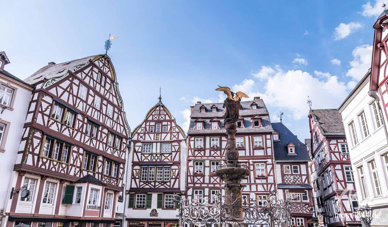 Der Marktplatz von Bernkastel-Kues