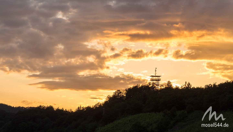 Prinzenkopfturm Sonnenuntergang Etappe 14