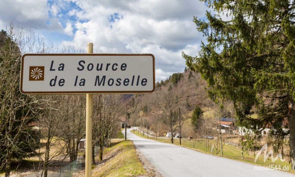 Source de la Moselle Straßenschild